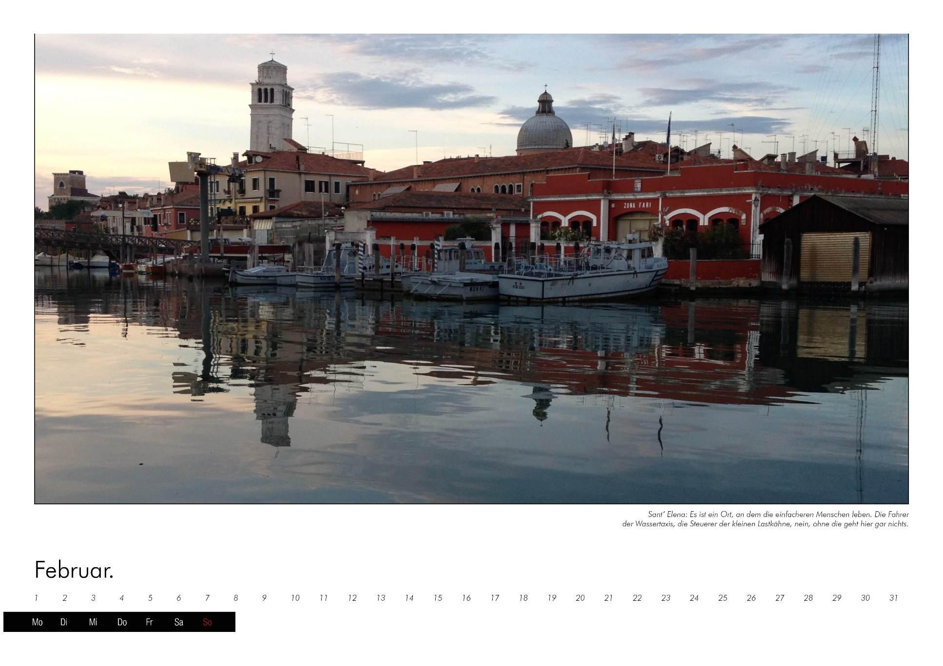 Kalenderbild einer Lagune in Venedig im immerwährenden Kalender